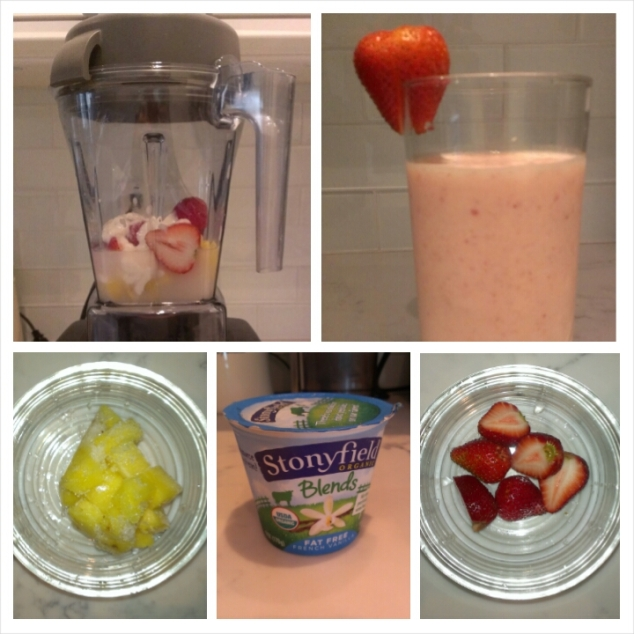 Smoothie - Pineapple Strawberry Yogurt